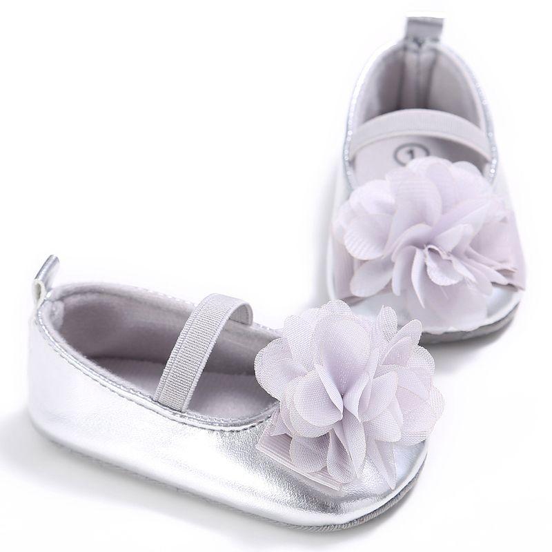 sports shoes 02592 c30b3 Lindo bebé recién nacido Niñas Patucos pu flor suave Zapatos princesa  Sneaker 0-18 m