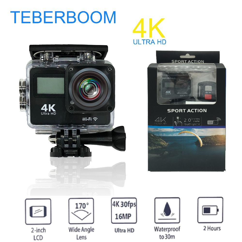 Teberboom S4A Wifi 4K Out of doors Motion Digital camera Hd Waterproof Camcorder Diving Underwater Bike Helmet Video Cam For Excessive Sports activities