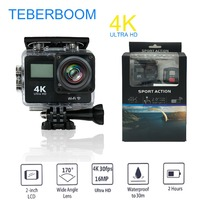 TEBERBOOM S4A WiFi 4K Outdoor Action Camera HD Waterproof Camcorder Diving Underwater Bike Helmet Video Cam For Extreme Sports