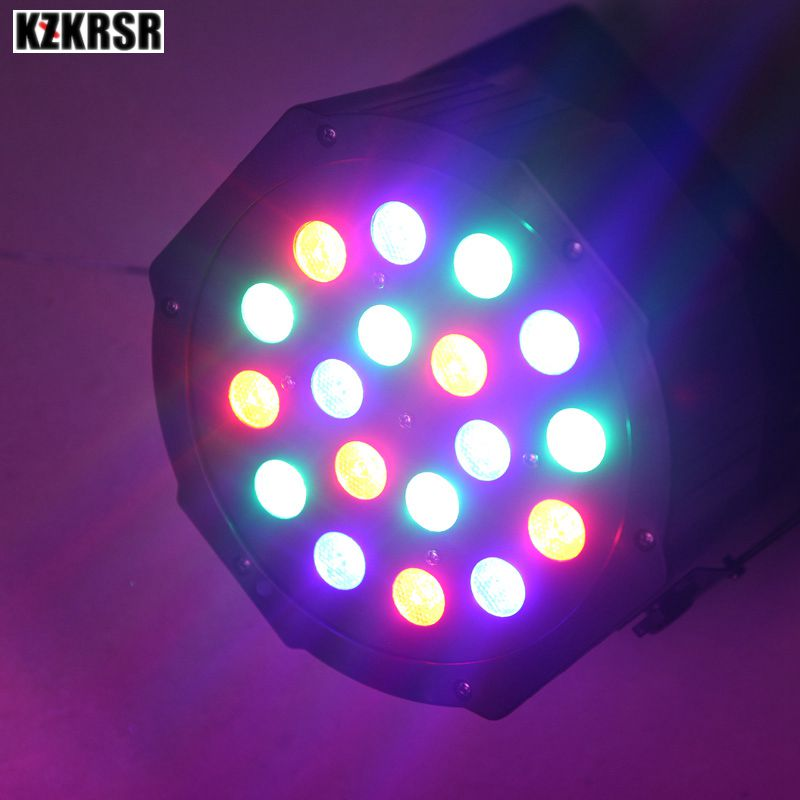 18*3W RGB Led Stage Light 110V 220V Par Light With DMX512 Master Slave Flat DJ Equipment for Party Disco DJ Wedding Effect цена
