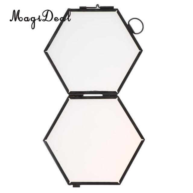 Neu Aliexpress.com : MagiDeal Vintage Hexagon Metall und Glas Bild  JV37