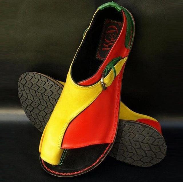 Scarpe delle signore della donna zapatos mujer sandali di estate delle donne degli appartamenti Casual chaussure femme fibbia della cintura 2019 D33095