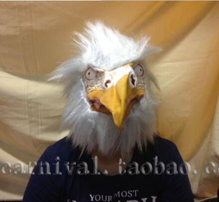 Latex Chicken Head Mask Full Face Adult Mask Breathable Halloween Masquerade Fancy Dress Party Cosplay Costume Cute Animal Mask