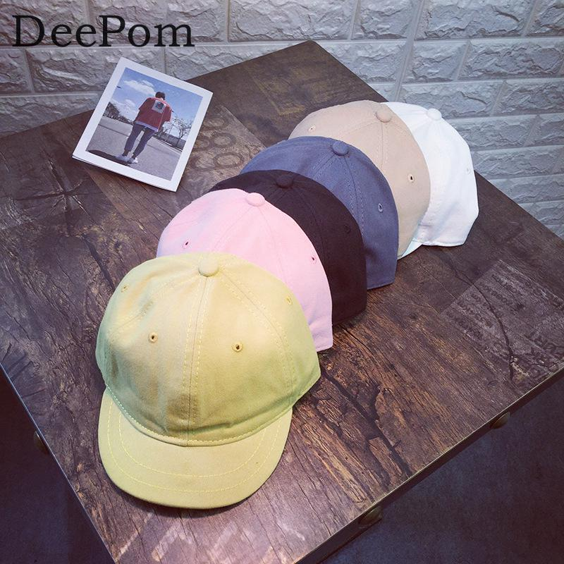 Deepom Cotton Baseball Cap Women Men Short Brim Snapback Caps Vintage Adjustable Trucker ...