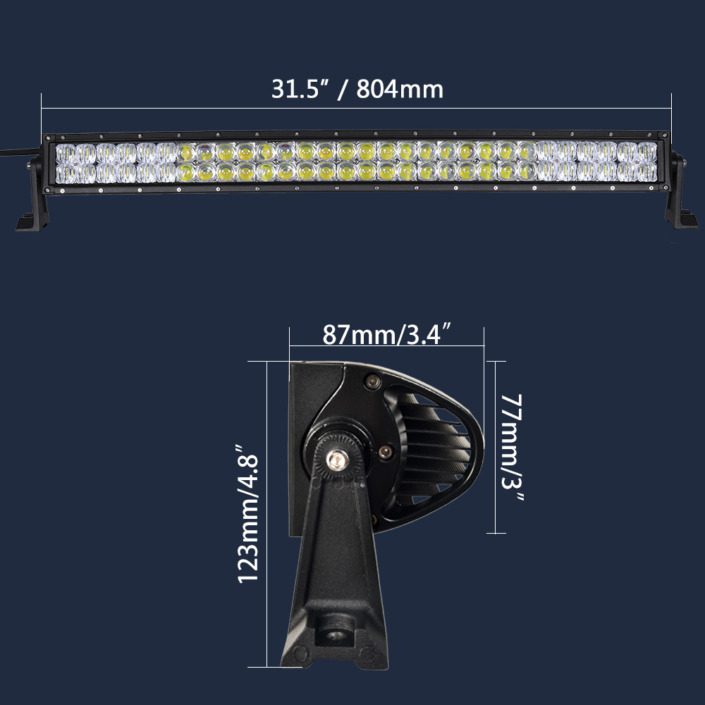 real power 5d 32 inch curved led light bar with wire kit 12v 24v LED Fluorescent Replacement Wiring Diagram real power 5d 32 inch curved led light bar with wire kit 12v 24v combo beam for offroad boat car truck atv suv 4wd 4x4 work lamp in light bar work light