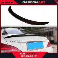 PD Design Carbon Fiber Rear Spoiler Car Body Kit Wing For Mercedes Cla Class W117 CLA