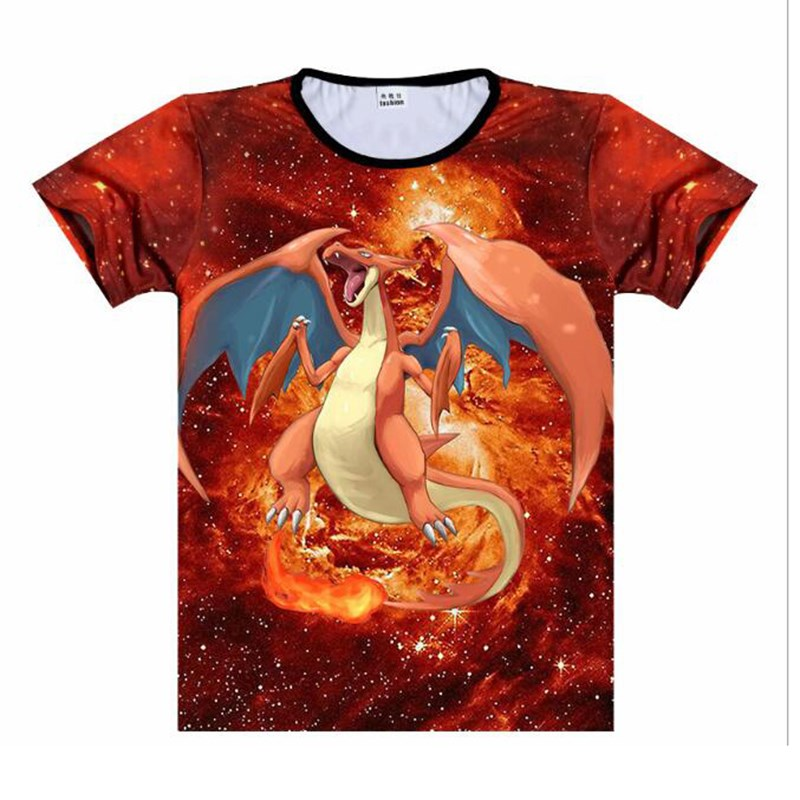 2dc26d14c Detail Feedback Questions about Pokemon Charizard 3D Printed T Shirt Women  Men Streetwear Tops Summer Short Sleeve Tee Shirts Streetwear Casual T  Shirts on ...