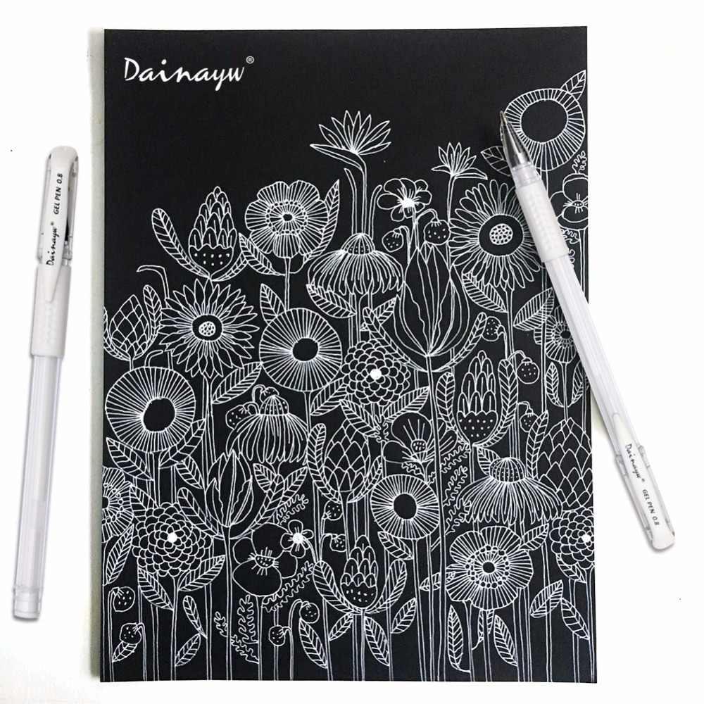 Dainayw 6 pçs branco hightlight caneta gel para desenhar desenho desenho comic manga pintura suprimentos