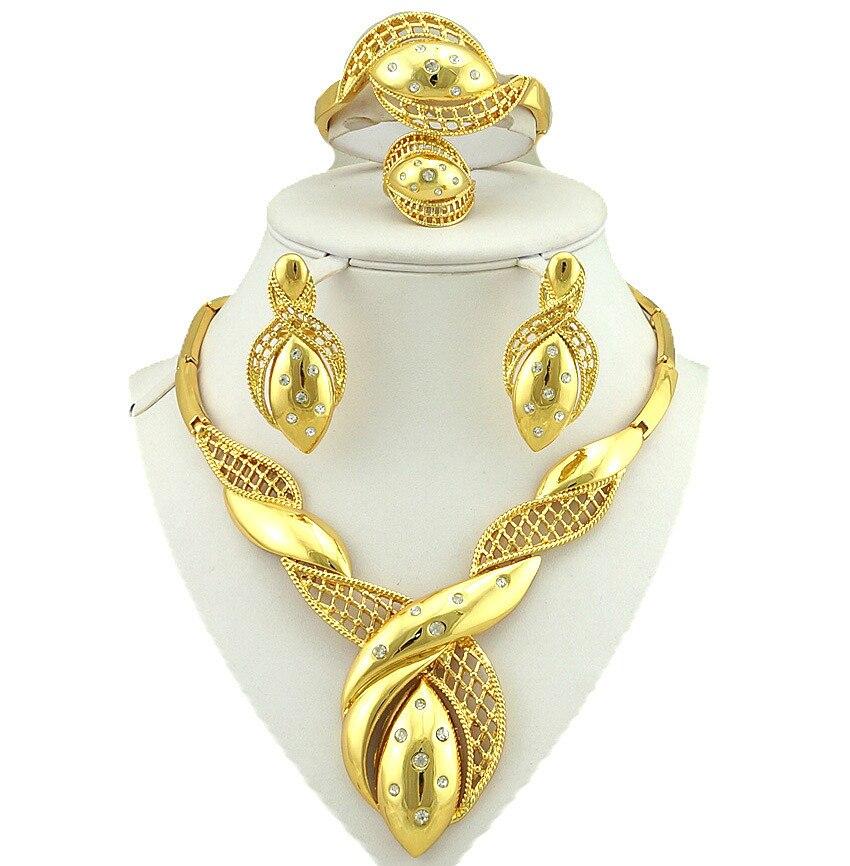 Ensembles de bijoux en plaqué or ensemble de gros bijoux africains en gros femmes africaines collier ensembles de bijoux fins africains