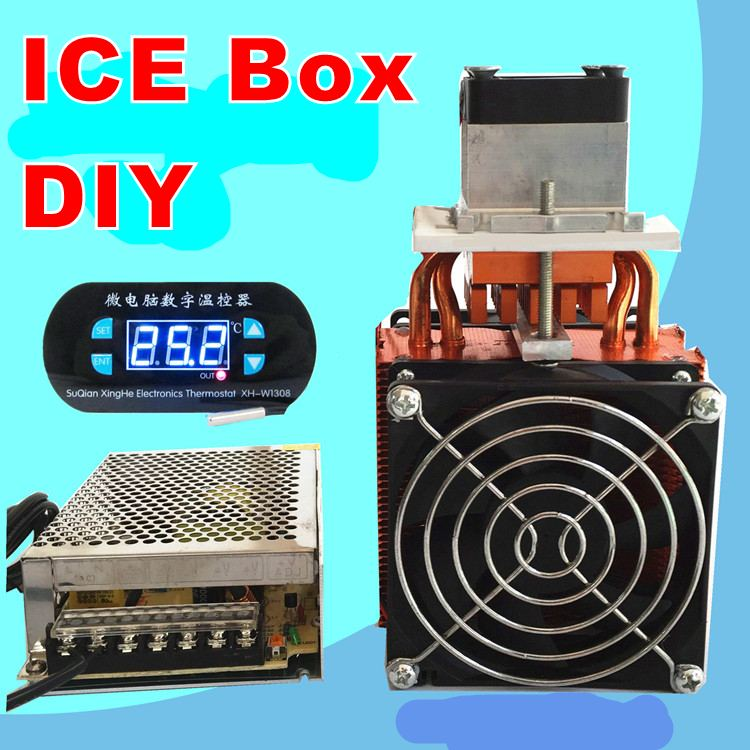 semiconductor refrigeration DIY Ice  Box Fresh-keeping box Refrigerator Diy kit Physics experiment   Scientific training tec1 12708 65w semiconductor refrigeration part