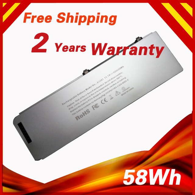 """10.8V 58Wh Laptop Battery For APPLE A1281 MB772 MB772*/A MB772LL/A For MacBook Pro 15"""" A1286  MB470*/A MB471*/A"""