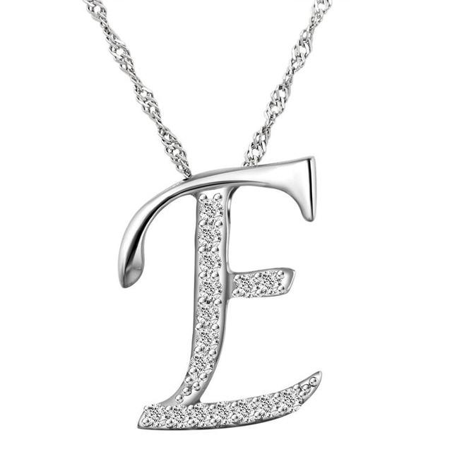 10pcslot new fashion crystal letter e pendant necklacesilver 10pcslot new fashion crystal letter e pendant necklacesilver letters necklace with free aloadofball Choice Image