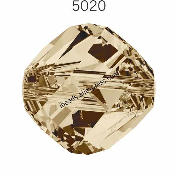 (1 pieza) 100% Original Cristal de Swarovski 5020 Helix de HECHO EN Austria suelta perlas brazalete de diamante de imitación, joyería haciendo