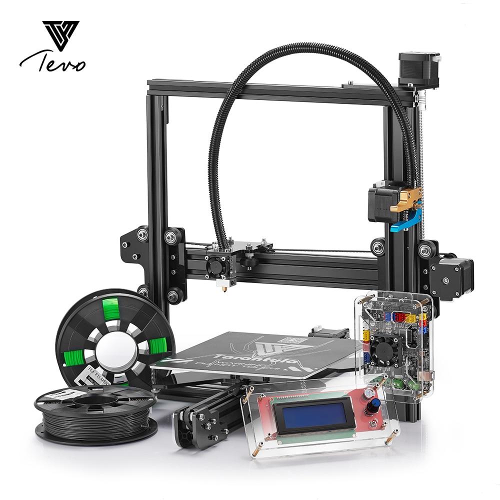 2017 новые tevo Тарантул 3D-принтеры комплект impresora 3D-принтеры с нитями 2004 ЖК-дисплей Titan экструдер SD карты impressora 3D