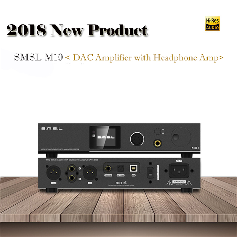 цена 2018 Amplifier SMSL M10 Balanced Output DAC Amplifier Audio Decoder USB DAC AK4497 Amplifiers Home DSD DAC Audio Amplifier Hifi