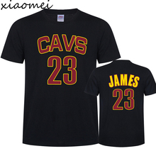 Xiaomei 2017 New Summer Cotton Plus Size Print T Shirt Casual O-neck Lebron James Men T-shirt Brand Tees And Tops