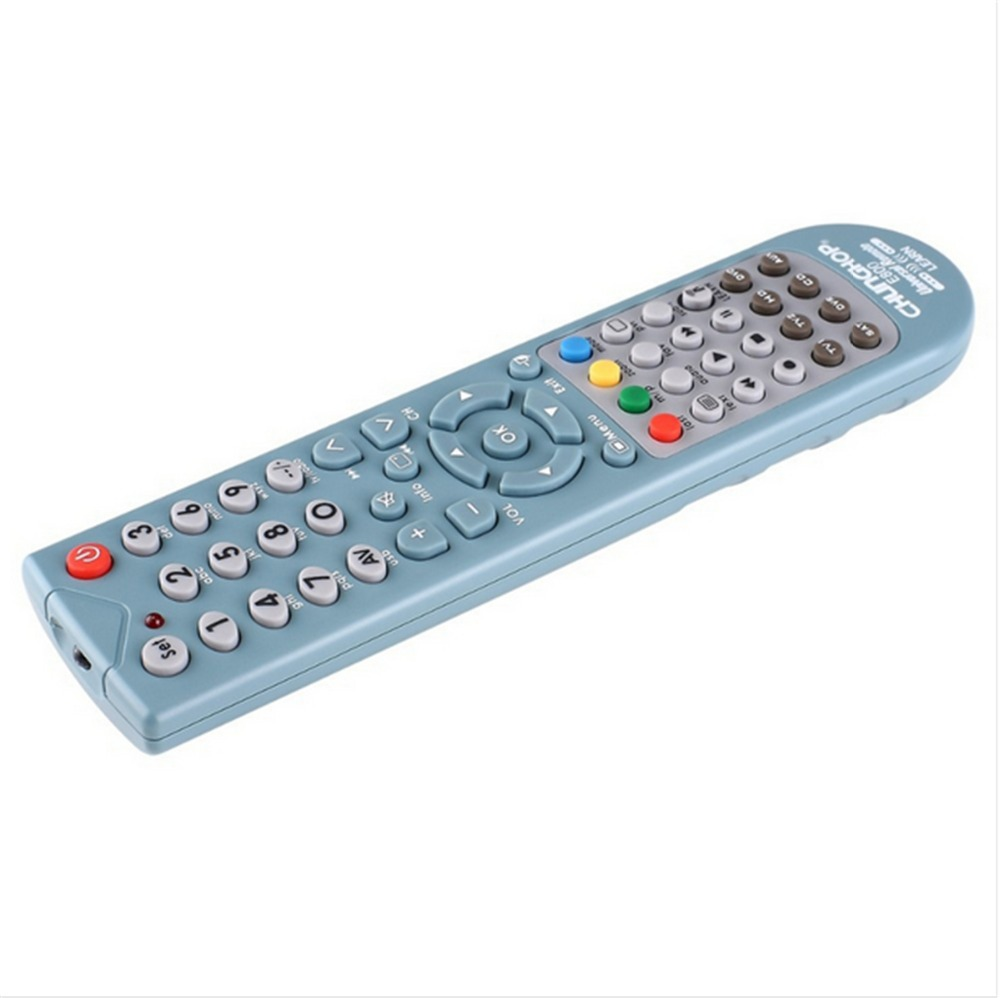 1PCS Chunghop E800 2AAA Combinational remote control learn remote for TV SAT DVD CBL DVB-T AUX universal remote 3D SMATR TV CE