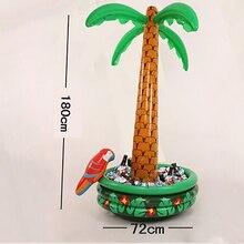 Palm tree con loro refrigerador cubo de hielo inflable decoración de la navidad de halloween party supply coconut tree juguetes venta caliente