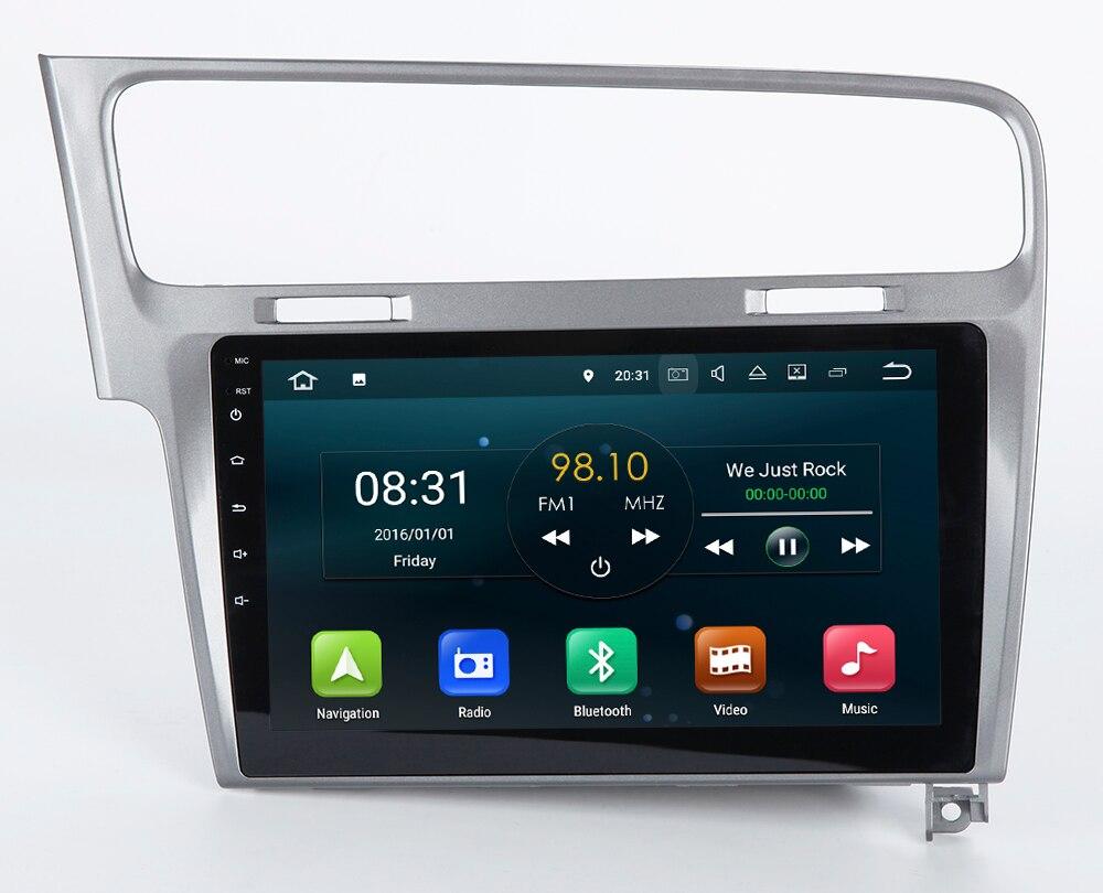 2 г Оперативная память 10.1 дюймов Android 7.1 автомобиль GPS навигации Системы Авто Радио аудио плеер-стерео СМИ для Volkswagen VW Гольф 7
