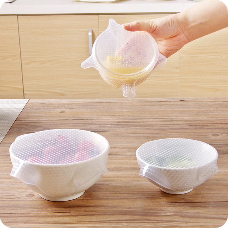 Reusable Square Silicone Bowl Cover Kitchen Utensils Cover