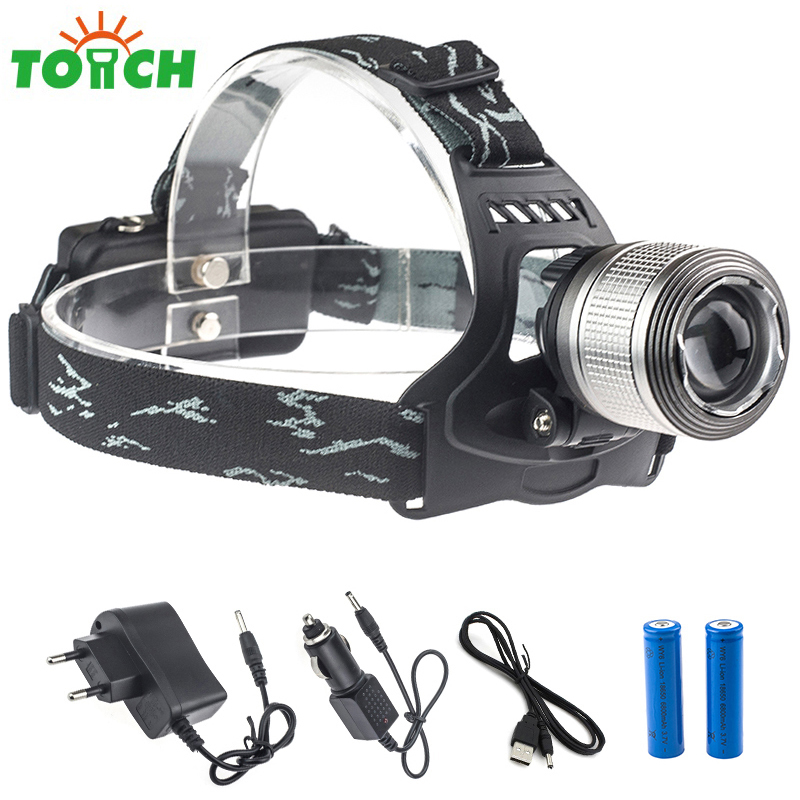 3800lm Cree xml T6 Tactical Headlamp Led Zoomable Adjust Lampe Frontale Lightweight Helmet Lantern for Backpacking Climbing