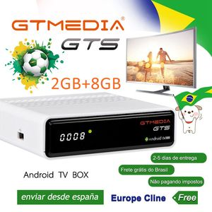 GTmedia GTS TV caja Amlogic S905D DVB-S/S2 2GB + 8GB receptor de satélite Android 6,0 Set top Box para Smart TV con 4K remoto IPTV
