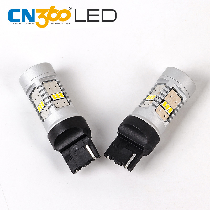 CN360 2PCS 3020 14SMD 7440 LED Back-up Light Turning Lamp Automotive Lights Signal 2 Years Warranty 12V 780LM White 6500K