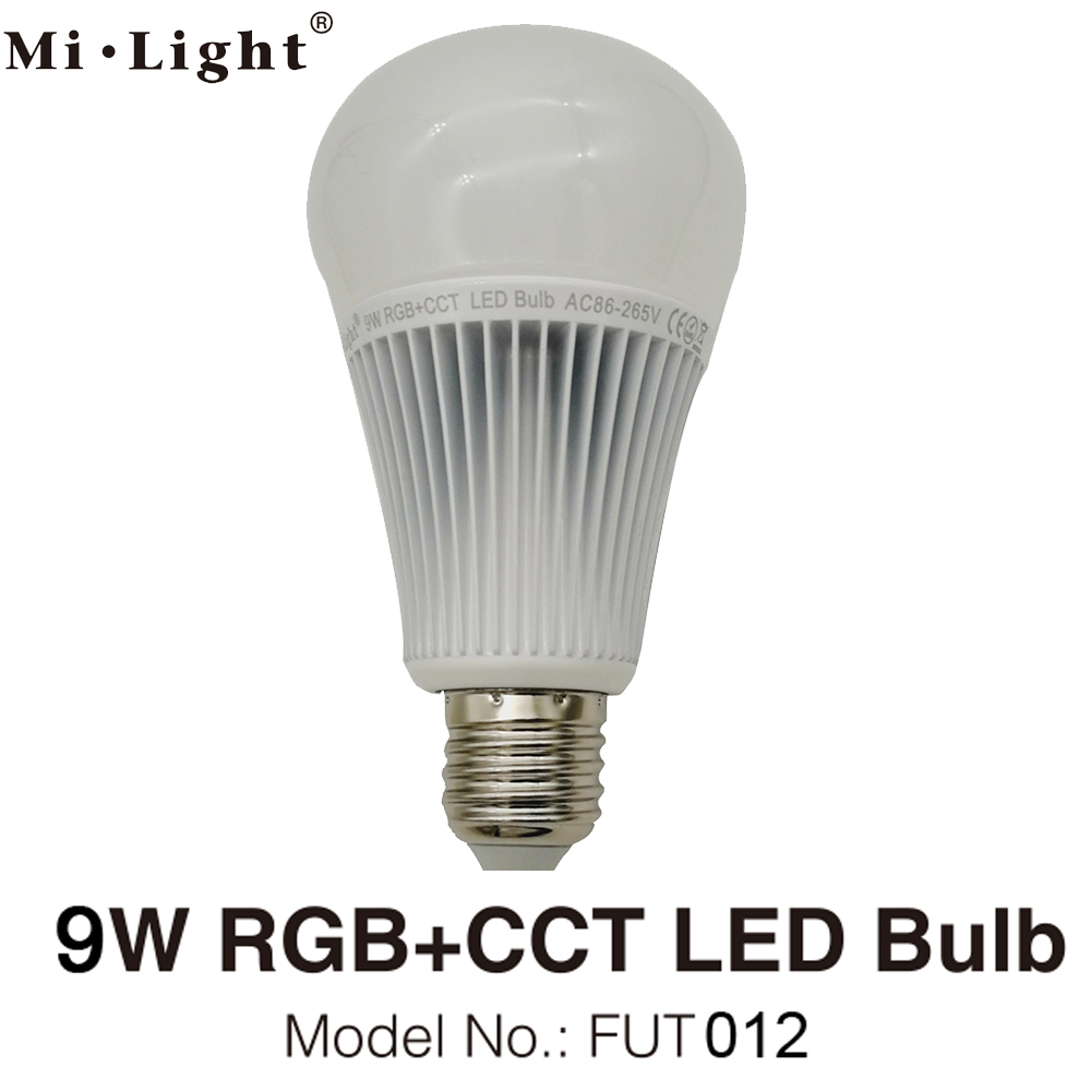 MiLight E27 9W RGB+CCT LED Bulb Spotlight <font><b>FUT012</b></font> 110V 220V Full Color Remote Control Smart Bulb WiFi Compatible 4-Zone Remote image