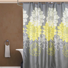 Peony Flower Bath Curtains Bathroom Waterproof Shower Curtain Bathtub Bathing Cover Extra Large Wide 12 Hooks rideau de bain
