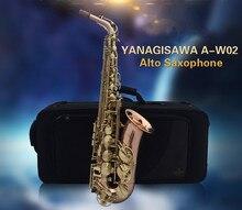 2017 New A-W02 YANAGISAWA Gold Lacquer Gold Key Professional Saxophone Alto Sax Eb Tone with mouthpiece ,case,gloves yanagisawa t wo20 t 992 b flat tenor saxophone gold lacquer brass bb sax professional performance instruments with case gloves