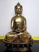 6.5 inch Art BRASS home decoration Folk Culture Brass Tibetan Buddhis Amitabha brass buddha statue sculpture