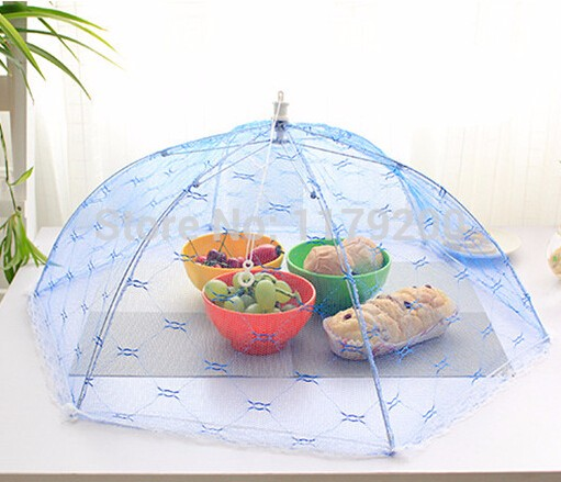 Food-Covers-Umbrella-Style-Anti-Fly-Mosquito-Kitchen-cooking-Tools-meal-cover-Hexagon-gauze-table-mesh