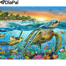 DIAPAI Diamond Painting 5D DIY 100% Full Square/Round Drill Turtle dolphin Embroidery Cross Stitch 3D Decor A24754