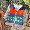 Бесплатная доставка новый мальчик кардиган покрыты следами, дети весной куртка # Z243