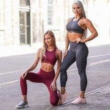 Лидер продаж комплект из двух предметов для йоги женский спортивный