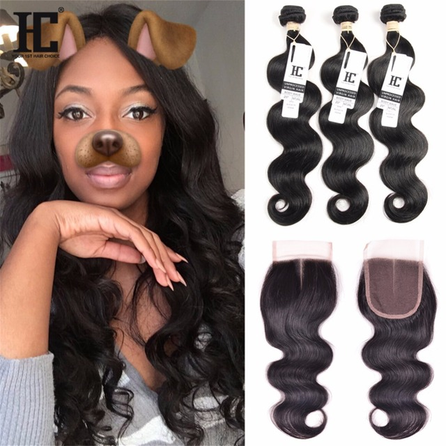 8A Mink Brazilian Virgin Hair With Closure Body Wave 3 Bundles With Closure Human Hair Bundles With Closure Brazilian Body Wave