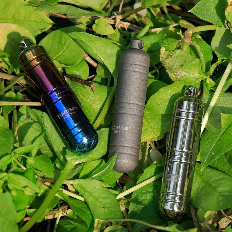 Tiartisan Красочные Мини Pill Box герметичные Водонепроницаемый коробка серебро Титан контейнер для бытовых случае Ta6115Ti