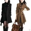 2016 осень зима пальто женщин Большой размер пор свободного покроя одежда шерстяное пальто шерстяные верхняя одежда женский жакет пальто