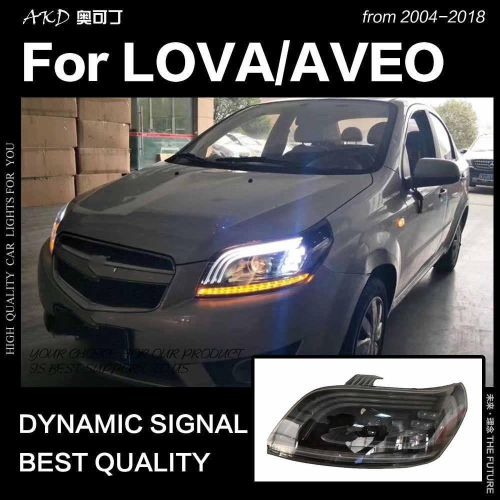 AKD Car Styling for Chevrolet Lova Headlights 2004-2018 Nexia LED Headlight Aveo led DRL Hid Head Lamp Bi Xenon Beam Accessories