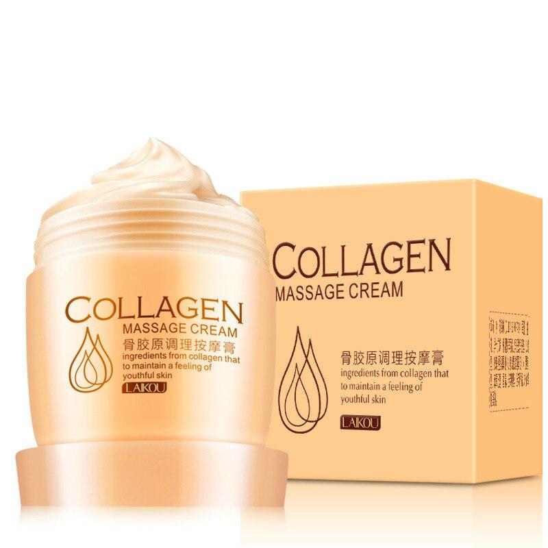 купить Collagen Massage Cream Anti-Aging Whitening Moisturizing Beauty Skin Care Facial Cream Anti-Wrinkle Remove Blackhead 80g по цене 407.31 рублей