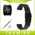 22mm pulsera de acero inoxidable venda de reloj de la correa de liberación rápida para asus zenwatch 1 2 lg g watch w100 w110 urbane w150 guijarro tiempo