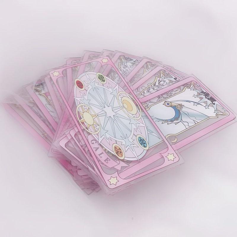 1pcs Anime Card Captor Cardcaptor Sakura KINOMOTO SAKURA Clow Card Clear Cards Cosplay Costume