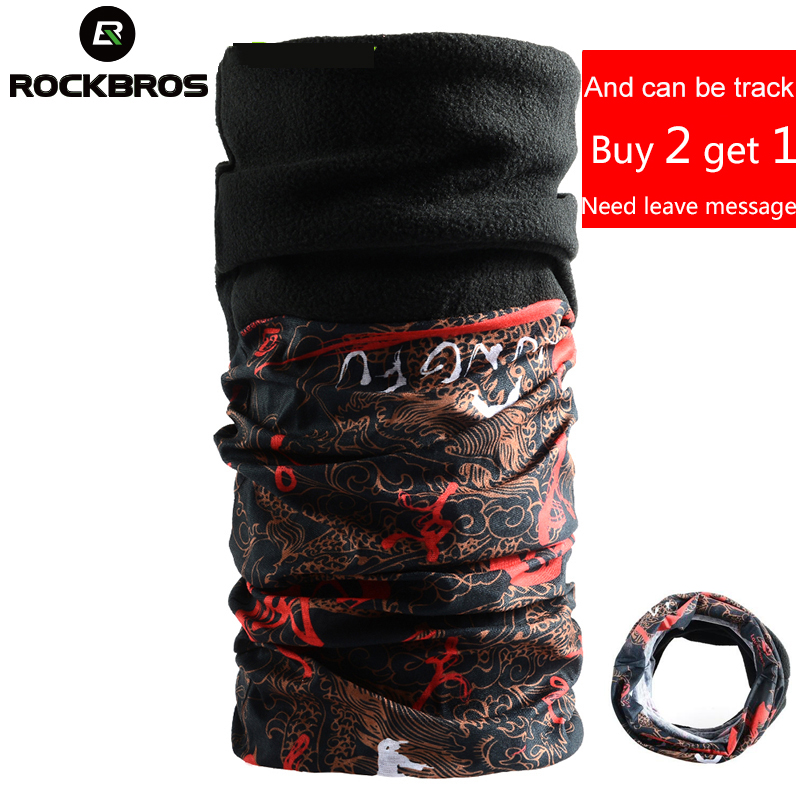 ROCKBROS Winter Fleece Thermal Magic Cycling Bike Bicycle Equipment Sports Bike Headwear Headband Neck Warmer Mask Scarf Bandana