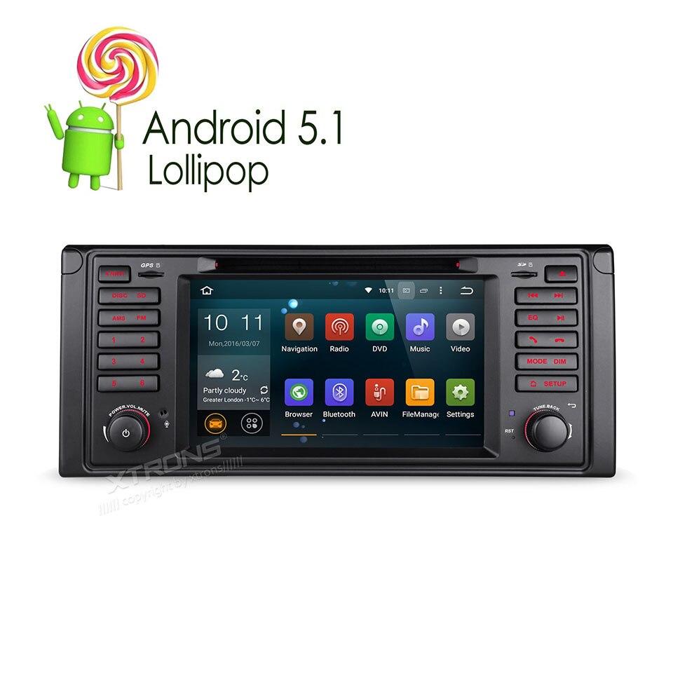 newest 7 android 5 1 lollipop quad core autoradio car dvd gps for bmw 5 series touring e39. Black Bedroom Furniture Sets. Home Design Ideas