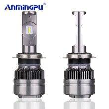 Anmingpu 16000lm/пара точечные светодиодные лампы H7 H4 светодио дный лампы H1 H11 9005 9006 H8 880/881 5800 К Авто автомобилей свет лампы