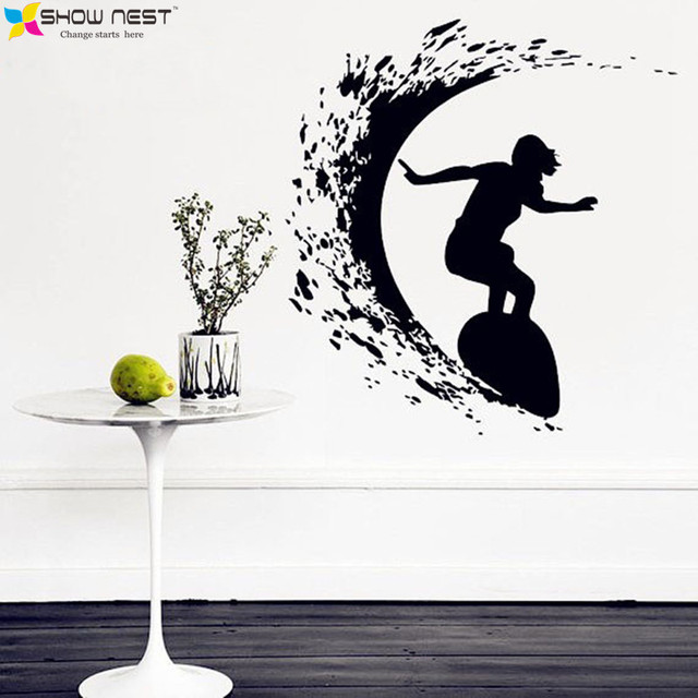 Free Shipping Beach Surf Extreme Sports Wall Decals Vinyl Stickers ...