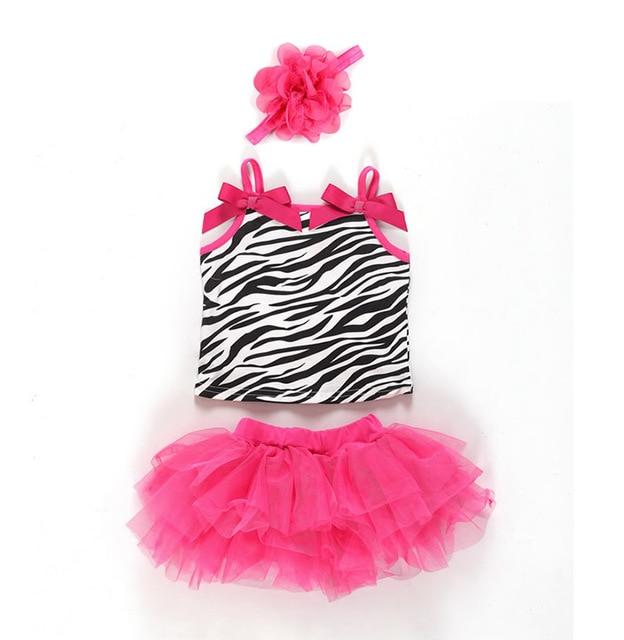 0a30c5366 3pcs Baby Girl Clothes Kids Newborn Infantil Headband+Tank Tops+Skirt Tutu  Outfit Ropa