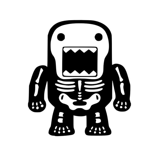 Xgs decal car decals domo skull motorcycle sticker jdm dub car reflective stickers