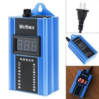Blue 100KW 110V 220V Smart Power Energy Saver Household Meter Electricity Saving Box with Electronic Screen for Family Factory