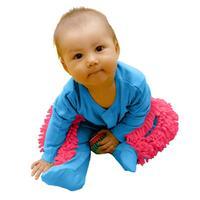 Yeni Bebek Paspas Romper Kıyafet Unisex Erkek Kız Parlatır Zeminler Temizlik Paspas Suit Bebek Yürüyor Swob Tarar Tulum